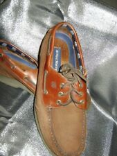 West Marine Comfort Classic Moc Leather Boat Shoes Brown  Men's Size 10
