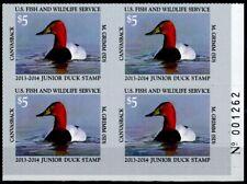 Junior Duck Stamp Jds21 Plate Block Of 4 Mnh 2013-2014