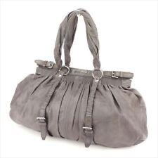 Miu Miu Shoulder bag Grey leather Woman Authentic Used T8585