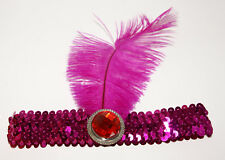Fasching Karneval Feder Stirnband rosa rot NEU OVP
