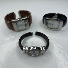 New listing A Lot Bulk Watches Osirock Denacci Eikon Brown Black Leather Cuff Retro Untested