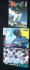 Ken Griffey Jr. 3 card LOT 94UD Record Pace #26 Blue Parallel Mariners +2MORE