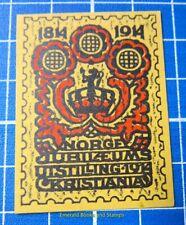 Cinderella/Poster Stamp - 1914 Norway Jubilæums Uitstilling Kristiania 847