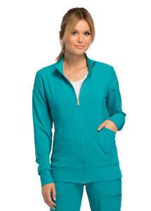 Cherokee iFlex CK303 Women's Zip Front Warm Up Jacket Medical Uniforms Scrubs