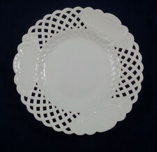 18th C Meissen Marcolini  White Reticulated Dinner Plate w Cartouches