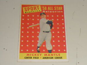 1958 Topps All Star #487 Mickey Mantle