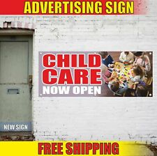 Child Care Now Open Advertising Banner Vinyl Mesh Decal Sign enrolling open 24