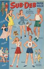Vintage Uncut 1940s Sub Deb Paper Doll Hd Laser Reproduction~Lo Pr~Hi~Hi Ql