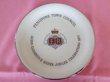 Plate Penistone Town Council Queen Elizabeth II Silver Jubilee Celebrations 1977