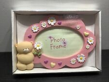More details for forever friends 3d photograph frame photo rare collectable pink flowers