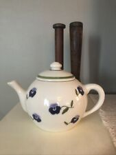 Vintage Hartstone Pottery Violets Teapot 1989