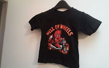"""TODDLER TOP,BLACK,""""HELL ON WHEELS""""12MONTHS"""