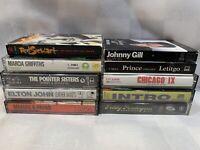 (10 Cassette Lot) Prince Pendergrass Pointer Sisters Johnny Gill Chicago Elton