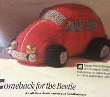 The Classic Beetle Car  Knitting Pattern