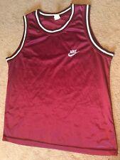 Vintage 90s Nike Jersey Basketball Burgundy Swoosh Rare Xxl
