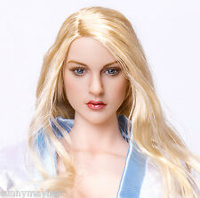 "1/6 Blonde Hair Emily Baby Doll Female European Actress Head Sculpt F 12"" Figure"