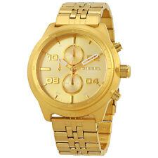 Diesel Padlock Gold-tone Dial Mens Chronograph Watch DZ4441