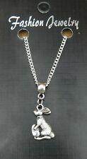 """18"""" or 24 Inch Chain Necklace & Bunny Rabbit Pendant Animal Lovers Charm"""