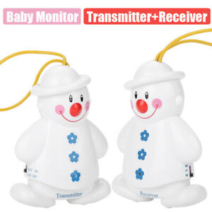 Snowman Wireless Baby Cry Detector Infant Alarm Monitor Transmitter Receiver