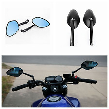 2X Black CNC 3D Wave Billet Side Mirrors Triumph Street Triple 675 Speed Triple
