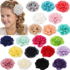 Girl Beach Bridal Wedding Chiffon Flower Hair Clip Brooch Barrette Headpiece DIY