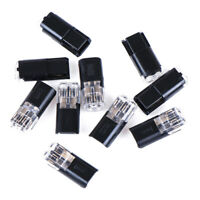 10pcs 2pin Pluggable Spring Lock Wire Connector Cable Crimp T sc