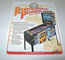 Stern TRANSFORMERS REDEMPTION Original 2011 Arcade Game Pinball Machine Flyer