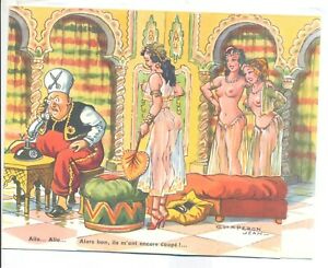 CP pin up systeme  illustrateur chaperon jean harem