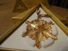 SWAROVSKI 2012 CHRISTMAS ORNAMENT GOLD SCS 1139970