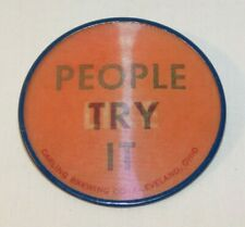 Rare old Carling Beer People Try It People Like It Advertising Flicker Pin