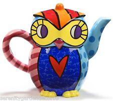 Romero Britto Ceramic Teapot - Owl Design  53 oz size #334154