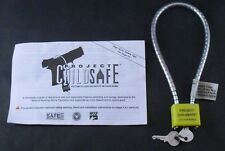 Project Childsafe Cable Style Gun Padlock With 2 Keys New In Package