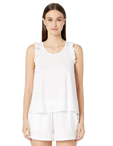 Natural Skin Women's Laila Organic Cotton Tank White Size Large