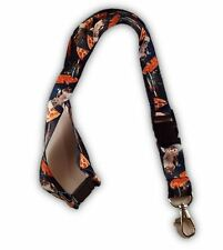 Cats in Space and Pizza Design Neck Lanyard Id Key Holder