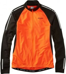 Madison Stellar Thermal Long Sleeve Mens Cycling Jersey - Orange