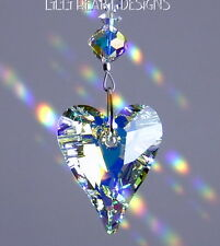 m/w Swarovski 27mm Ab Wild Heart Sun Catcher with Ab Hearts Lilli Heart Designs