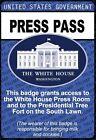 US White House PRESS PASS / President Donald Trump beautiful REFRIGERATOR MAGNET