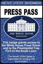 US White House PRESS PASS / President Donald Trump beautiful REFRIGERATOR MAGNET