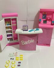 Vintage Mattel Barbie 1995 So Much to Do Bank w/ Atm, Money, Jewels & Gold Bars
