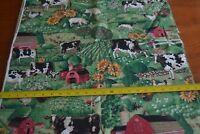 By 1/2 Yd, Vintage, Farm Animal Scene Quilting Cotton, Concord/Kessler, N1186