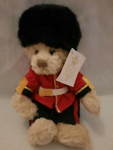 Windsor Castle Royal Guard Teddy Bear by The Royal Collection Rare Soft Plush...