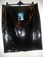 ANN SUMMERS WET LOOK LADIES GIRLS PENCIL BLACK SKIRT. BNWT. UK 8. SKU 155