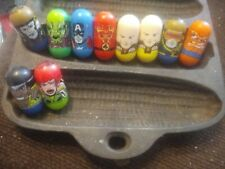 Lot Of 10 Mighty Beanz Marvel X-men. Prof X Human Torch Gambit Thing Cage Capt A