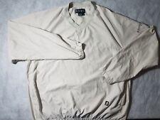 FootJoy Golf Rain/Wind Sport Long Sleeve Beige Pullover Sweater Mens Size Large