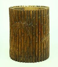 New listing * Antique Bamboo Chinese Calligraphy Brush Pot Carved Wood