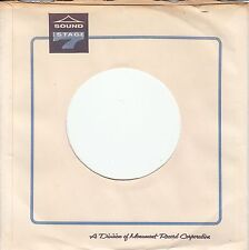 Company Sleeve 45 Monument/Sound Stage 7 - White W/ Black & Blue Writing And Log