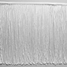 Blanco bucles VESTIDO FLECOS 30cm Ancho 30.5cm, MANUALIDADES, moda ,