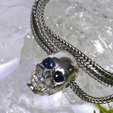 Unisex Echtschmuck-Halsketten & -Anhänger aus Sterlingsilber mit Saphir-Hauptstein