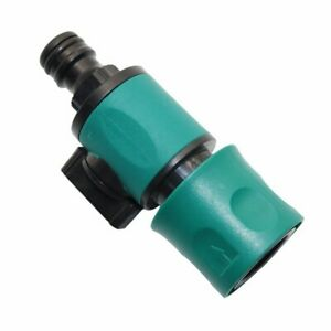 Green Garden Hose Pipe In Line Tap Shut Off Valve Fitting Connector/Adaptor Tool