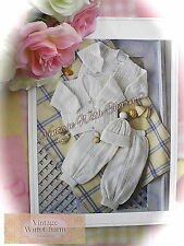 Vintage Knitting Pattern Baby's Cardigans Hat, Trousers Premature Sizes Included